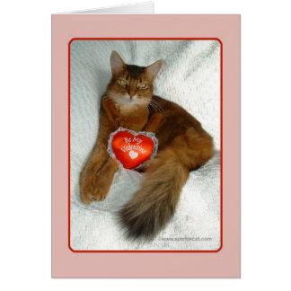 Seien Sie meine Valentinsgruß-Miezekatze-Karte Karte