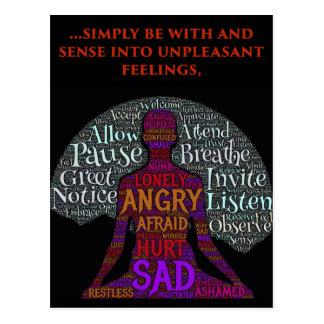 Seien Sie mit Ihrer Gefühls-Postkarte Postkarte