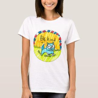 Seien Sie nette blaue Katze T-Shirt