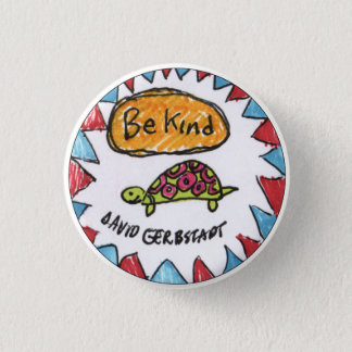 Seien Sie nette Schildkröte Runder Button 2,5 Cm