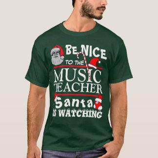 Seien Sie Nizza zum Musik-Lehrer-Grün T-Shirt