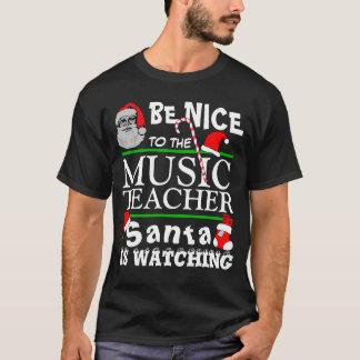 Seien Sie Nizza zum Musik-Lehrer-Schwarzen T-Shirt