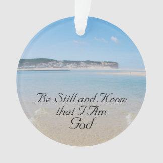 Seien Sie noch und wissen Sie, dass ich Gott, Ornament