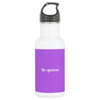 Seien Sie qeeen! designes Wasserflasche/Lila Edelstahlflasche