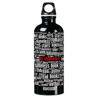Seien Sie schamlose Wort-Wolke Aluminiumwasserflasche