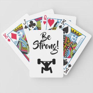 Seien Sie stark Bicycle Spielkarten