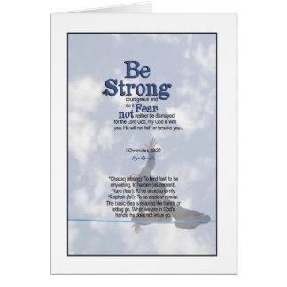 Seien Sie stark und - i-Chronik-28:20 standhaft Karte