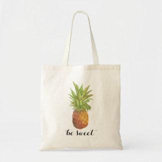 Seien Sie süße Ananas-Tasche Budget Stoffbeutel