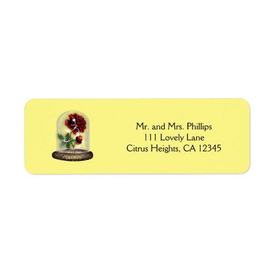 Seien Sie unsere Gast-Rote Rose in Glaselegantem
