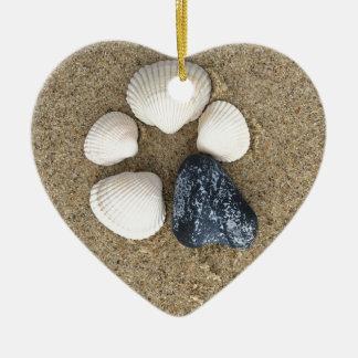 Seien Sie unterschiedlich Keramik Herz-Ornament