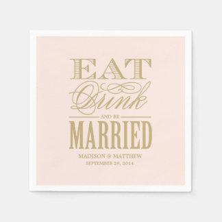 Seien Sie verheiratete | personalisierte Servietten