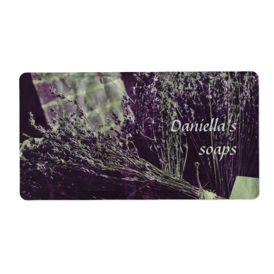 Seifenaufkleber - Lavendel Versandetikett