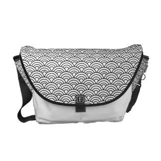 Seigaha japanische Muster-Bote-Tasche Kuriertaschen
