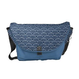 Seigaha japanisches Muster-Bote-Taschen-Blau Kuriertasche