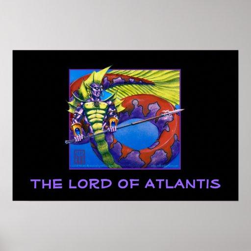 Seigneur de l'Atlantide sur la copie noire Posters