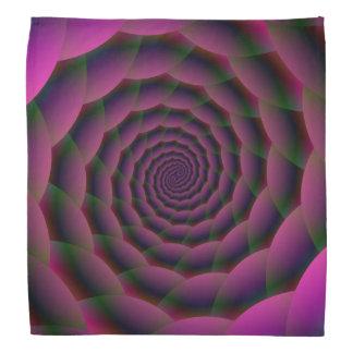 Seil-Spirale im lila roten und grünen Bandana Halstuch