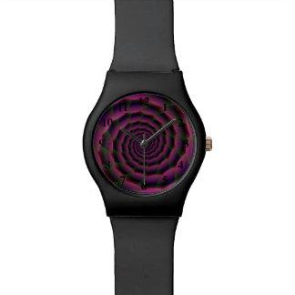 Seil-Spirale in der lila roten und grünen Uhr