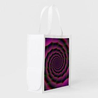 Seil-Spirale in der lila rotes und grünes Wiederverwendbare Einkaufstasche