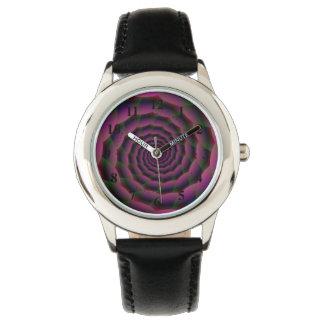 Seil-Spirale in lila Rotem und grün Armbanduhr