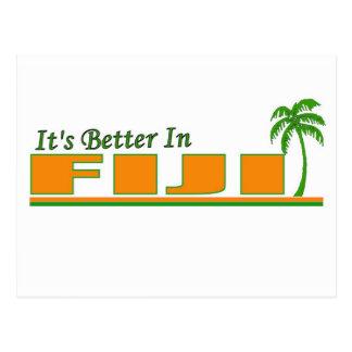 Sein besseres in Fidschi Postkarte