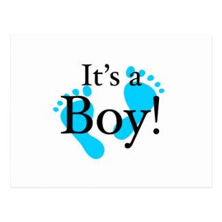 Sein ein Junge - Baby, neugeboren, Feier Postkarte