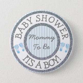 Sein ein Junge, Mama, zum Babyparty-Knopf zu sein Runder Button 7,6 Cm