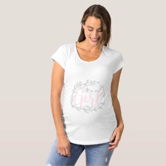 Sein ein Mädchen | rosa u. Umstands-T-Shirt