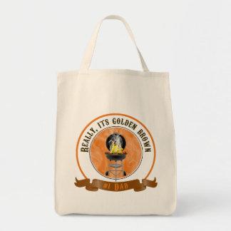 Sein goldenes Brown, der Vatertags-Taschen-Tasche