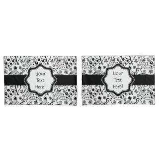 Sein und ihrs personalisiertes Herz-Liebe-Muster Kissen Bezug