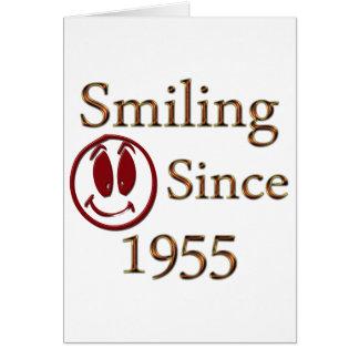 Seit 1955 lächeln karte