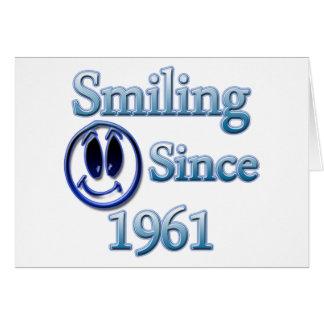 Seit 1961 lächeln karte