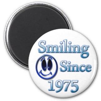 Seit 1975 lächeln runder magnet 5,1 cm