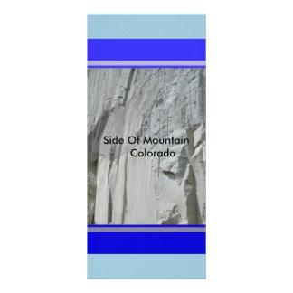 Seite der Gebirgscolorado-Gestell-Karte oder des Werbekarte