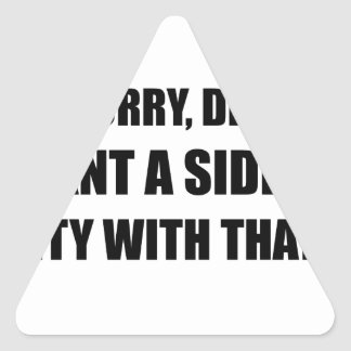 Seite des Mitleids Dreieckiger Aufkleber