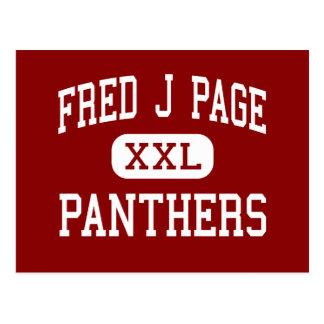 Seite Freds J - Panther - Mitte - Franklin Postkarte