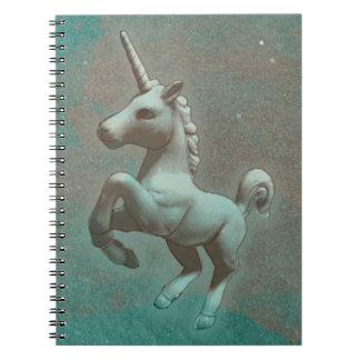 Seiten des Unicorn-Foto-Notizbuch-80 (aquamariner Spiralblöcke