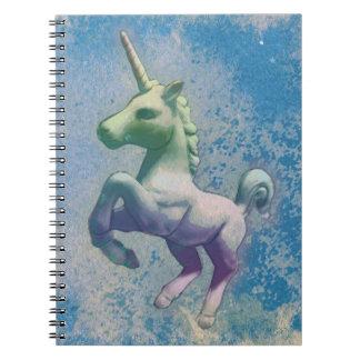Seiten des Unicorn-Foto-Notizbuch-80 (blaue Notizbücher