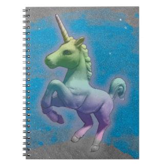 Seiten des Unicorn-Foto-Notizbuch-80 (blauer Spiral Notizblock