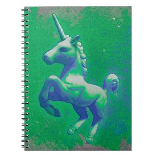 Seiten des Unicorn-Foto-Notizbuch-80 (glühend Spiral Notizbuch
