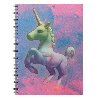 Seiten des Unicorn-Foto-Notizbuch-80 (Kuchen-Rosa) Spiralblöcke