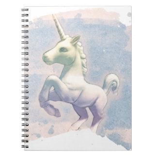Seiten des Unicorn-Foto-Notizbuch-80 (Mond-Träume) Spiralblock