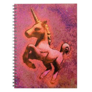 Seiten des Unicorn-Foto-Notizbuch-80 (rote Spiral Notizbuch