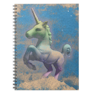 Seiten des Unicorn-Foto-Notizbuch-80 (Sandy-Blau) Spiral Notizblock