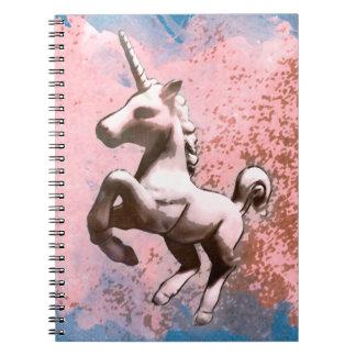 Seiten des Unicorn-Foto-Notizbuch-80 (verblaßtes Spiralblock