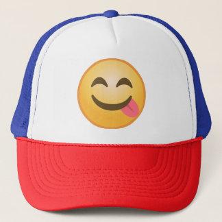 Seitenzunge Emoji Truckerkappe
