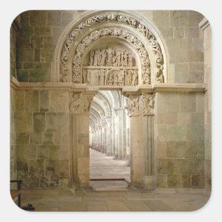 Seitliches Portal, c.1125 (Foto) Quadratsticker