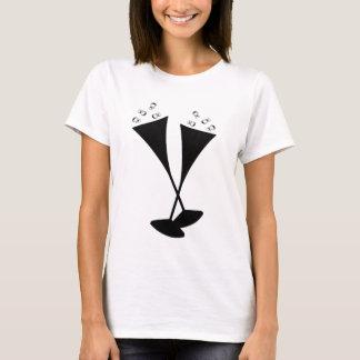 Sektkelche in Schwarzweiss T-Shirt