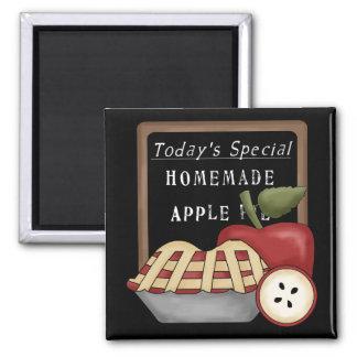 Selbst gemachter Apfelkuchen Quadratischer Magnet