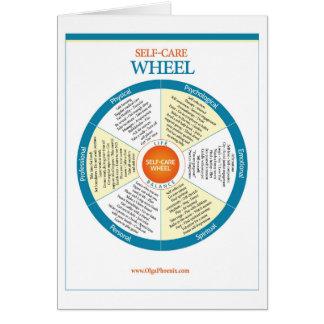 Selbst-Sorgfalt Rad-Produkte Karte