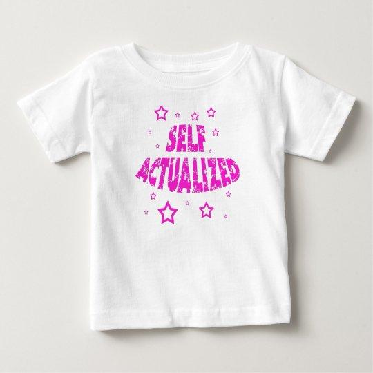 Selbst verwirklicht - Rosa Baby T-shirt